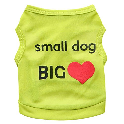 Pet Hoodie T-shirts - Pet Clothes, Puppy Hoodie Sweater Dog Sweatshirt Small Dog Printed Pet T-Shirt Dog Cat Vest Clothes Puppy Costumes Green