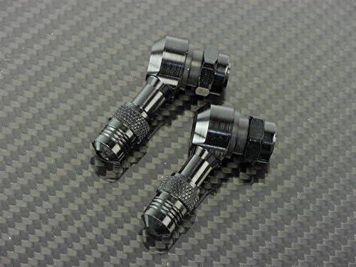 CNC Alu Winkelventil 112,5 Grad schwarz passend f/ür Kawasaki GPZ 1100 ZXT10E//E 1995-1998