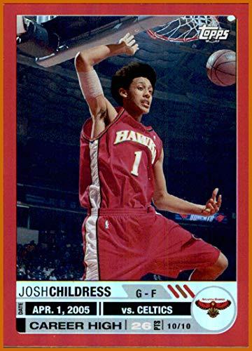 2005-06 Topps Big Game RED #18 Josh Childress ATLANTA HAWKS SERIAL #13/99 ()