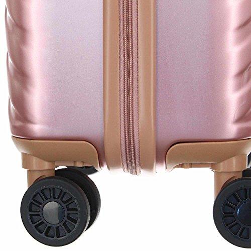 Eurotravel 4 Rollen Koffer 56cm rose