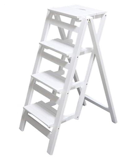 Surprising Amazon Com Dxz Ladder Folding 4 Step Step Stool Wooden Creativecarmelina Interior Chair Design Creativecarmelinacom