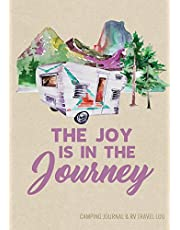 """Camping Journal & RV Travel Logbook, Vintage Camper Journey: Road Trip Planner, Caravan Travel Journal, Glamping Diary, Camping Memory Keepsake and Family Vacation Planner, 7"""" x 10"""" Camping Notebook & Motorhome Campsite Record Book, 160 pages / 80 Trips (Gift for Campers & RV Retirement Gifts Series)"""