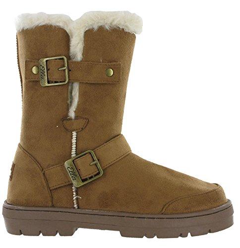 Twin Lined Ella Flat Snugg Buckle Warm Chestnut Fur Alex Winter Womens Boots qaqw5xtB