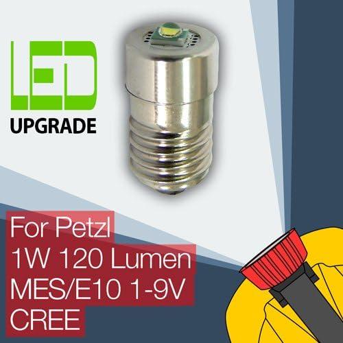 CREE LED mit 120 lumen Ausgabe von 50.000 Stunden Petzl Zoom Duo LED-Gl/ühlampe Umwandlung Upgrade f/ür Petzl Stirnlampe 1W Scheinwerfer E10 CREE
