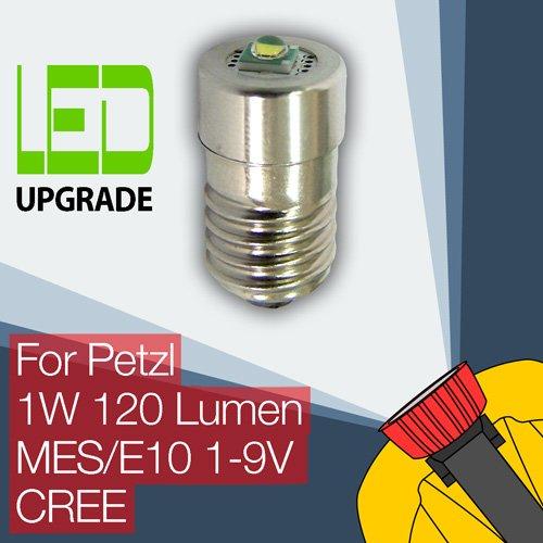 Petzl Zoom Duo conversión actualización bombilla LED para linterna frontal Petzl estarer E10 estarer. 1 W LED CREE de 120 lúmenes.