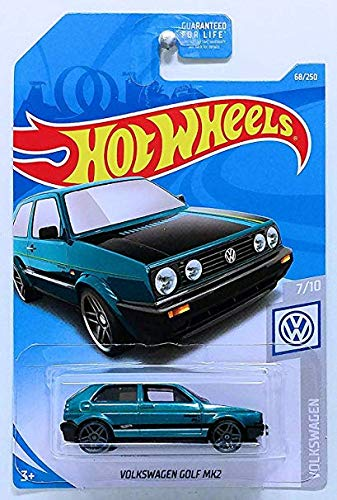 Hot Wheels 2019 Basic Vehicle Volkswagen Series: Volkswagen Golf MK2 [Teal] - Int. Card (Hot Wheels Vw)