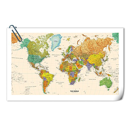 Kreative Arts Large Size World Map Wall Art Poster Print Picture On Canvas Without Framed Wall Decor For Office Home Interior 55x32inch No Frame Buy Online In Antigua And Barbuda At