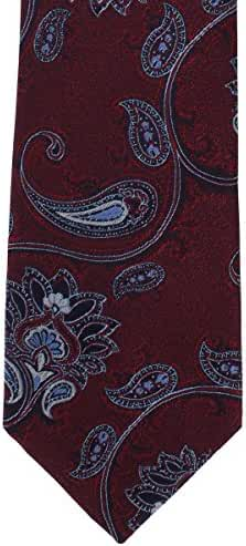 Wine Intricate Paisley Polyester Tie by Michelsons of London