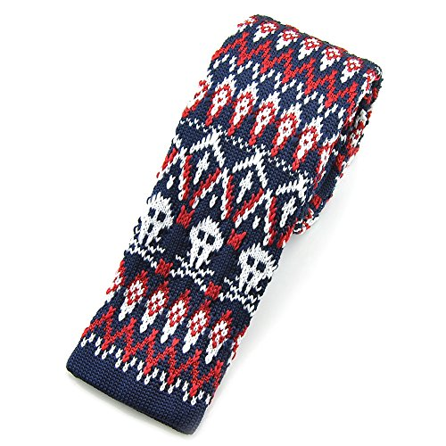 PenSee Mens Slim 2.16 Skinny Tie Classic Basic Designed Knit Necktie-Various Colors