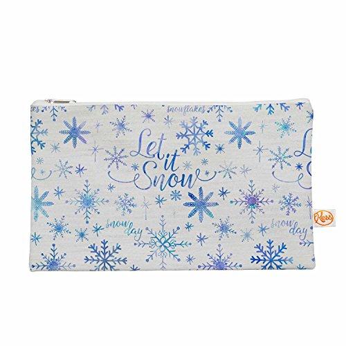 Kess eigene 12,5x 21,6cm Noonday Design Let it snow Winter Muster Alles Tasche–Blau/Violett