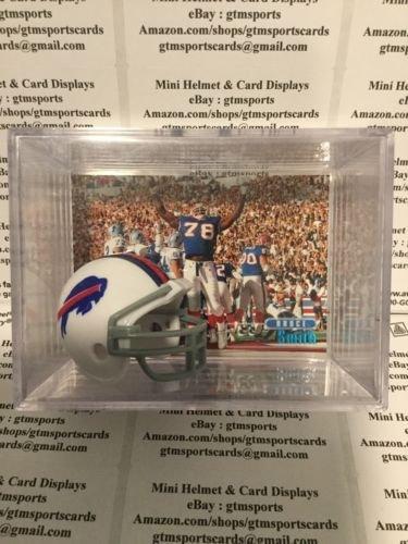 Bruce Smith Buffalo Bills - Bruce Smith Buffalo Bills Mini Helmet Card Display Collectible Sack Auto Shadowbox Autograph