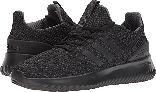 adidas Men's Cloudfoam Ultimate Running Shoe, Black/Black/Utility Black, 11.5 M US