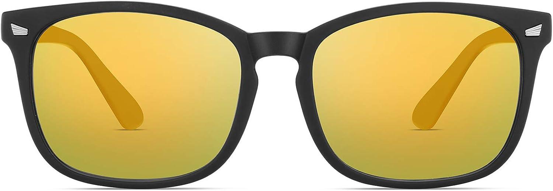 LUMDERIO Classic Sunglasses for Men Women Trendy Sunglasses Color Mirror Lens Sun glasses
