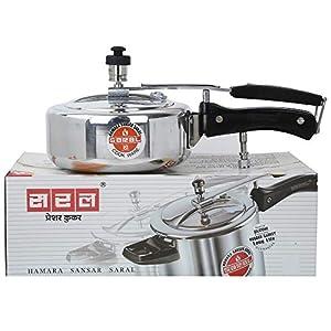 SARAL Aluminum Pressure Cooker with Inner Lid (Metallic, 1.5L)
