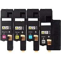 4 Pack Generic Toner Cartridge CT202264 CT202265 CT202266 CT202267 for Fuji Xerox DocuPrint CM115w CP115w CP225w CP116w…