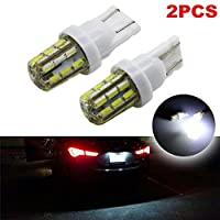 Dealetech 2x Xenon White 24-SMD T10 168 194 2825 LED Bulbs For Car License Plate Lights