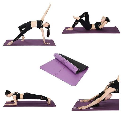 WYQWAN Colchoneta De Yoga Esterilla Yoga,Estera De Yoga PU ...