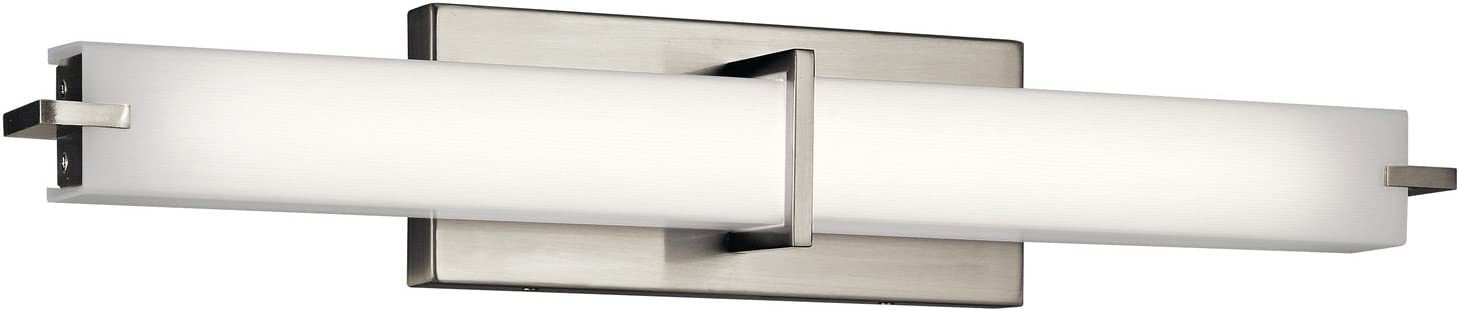 "Kichler 11146NILED 25.75"" LED Linear Bath Vanity in Brushed Nickel"