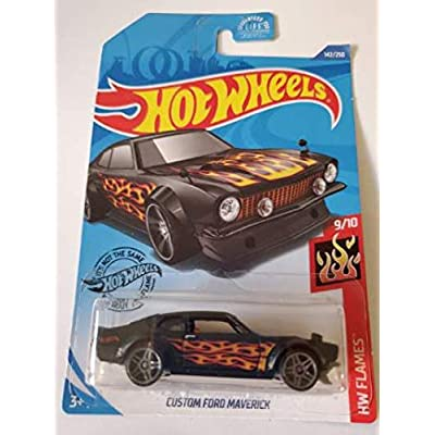 Hot Wheels 2020 Hw Flames Custom Ford Maverick, Black 142/250: Toys & Games [5Bkhe0306897]