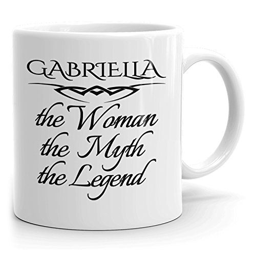Best Personalized Womens Gift! The Woman the Myth the Legend - Coffee Mug Cup for Mom Girlfriend Wife Grandma Sister in the Morning or the Office - G Set 2