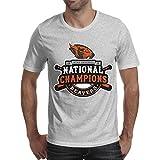 FGRTA 2018 College World Baseball Beavers Team Tshirt Short Sleeve (Grey, L)