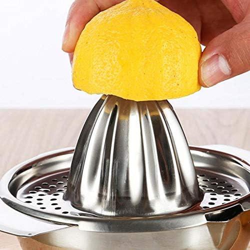 Exprimidor manual Exprimidor Manual De Acero Inoxidable Exprimidor Manual De Naranja Limón Jugo De Fruta Filtro Exprimidor Recipiente 100% Original Jugo Maker