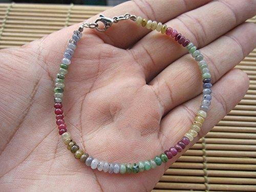 Multi Color Sapphire bracelet,Sapphire bracelet,Sapphire jewelry,Genuine sapphire bracelet,Natural sapphire bracelet,sterling silver sapphire bracelet,September birthday bracelet,- 6.5,7,7.5,8,8.5