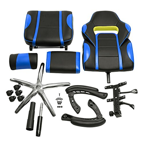 Langria Computer Gaming Chair Faux Leather Racing Style