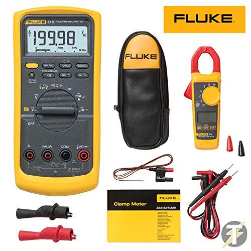 Fluke 325 True-RMS Clamp Meter, Fluke 87V Digital Multimeter w/Temperature Probe