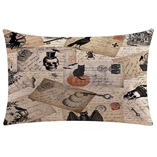 HGWXX7 Happy Halloween Pillow Cases Linen Sofa Cushion