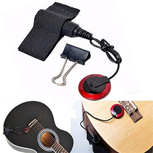 VIDOO Pro Kontakt Mikrofon Mic Pickup Für Gitarre Geige Banjo Ukulele Mandoline