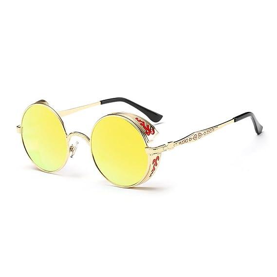 1c92e49b0660 Amazon.com  Coolsunny Vintage Hippie Retro Metal Round Circle Frame  Sunglasses CS1039 (New Black-Gray
