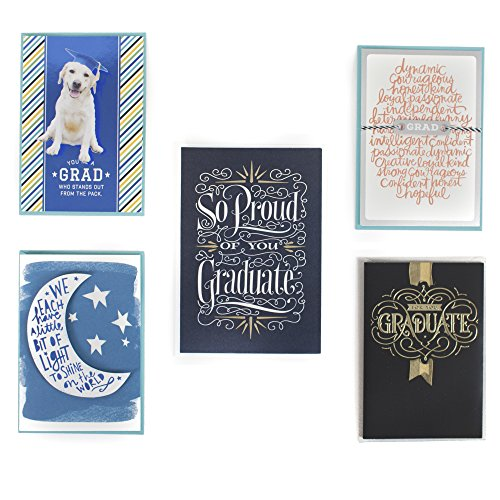 Hallmark Graduation Greeting Card Assortment (5 Cards/Designs and 5 Envelopes) by Hallmark