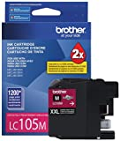 BROTHER INTERNATIONAL CORP LC105M LC105M, LC-105M, Innobella Super High-Yield Ink, 1200 Page-Yield, Magenta