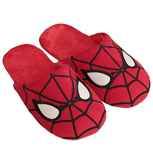YUTIANHOME Men's Slippers Spider Winter Warm Shoes With Non Slip Soles Spider Pattern K5N4L2
