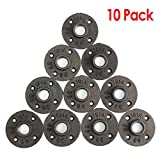 "#6: KINGSO 10 Pack 3/4'' Black Malleable Iron Floor Flange Pipe Fittings, Perfect for Industrial Pipe Furniture and DIY Decor (3/4"")"