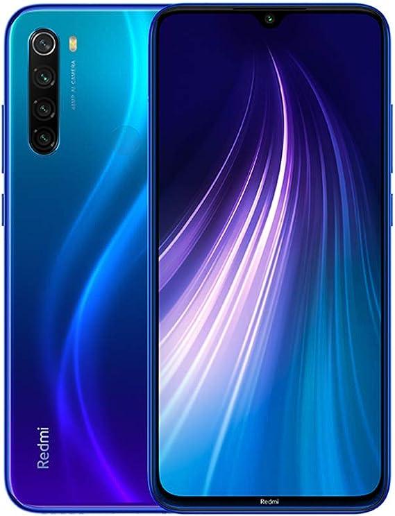 """Xiaomi Redmi Note 8 Smartphone,3G 32G Mobilephone,Pantalla Completa de 6.3 """",Procesador Snapdragon 665 Octa Core,Quad Cámara(48MP + 8MP + 2MP + 2MP) Versión Global (Azul): Amazon.es: Electrónica"""