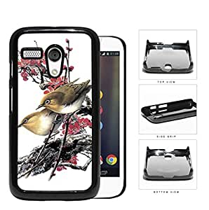 Love Birds On Cherry Blossom Hard Plastic Snap On Cell Phone Case Motorola Moto G