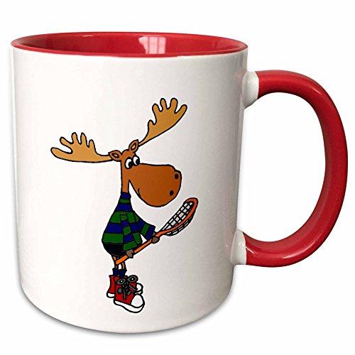 3dRose mug 224760 5 Funny Moose LaCrosse