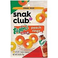 Snak Club Tajin Peach Rings, 2.5 Ounce, 12 Count…
