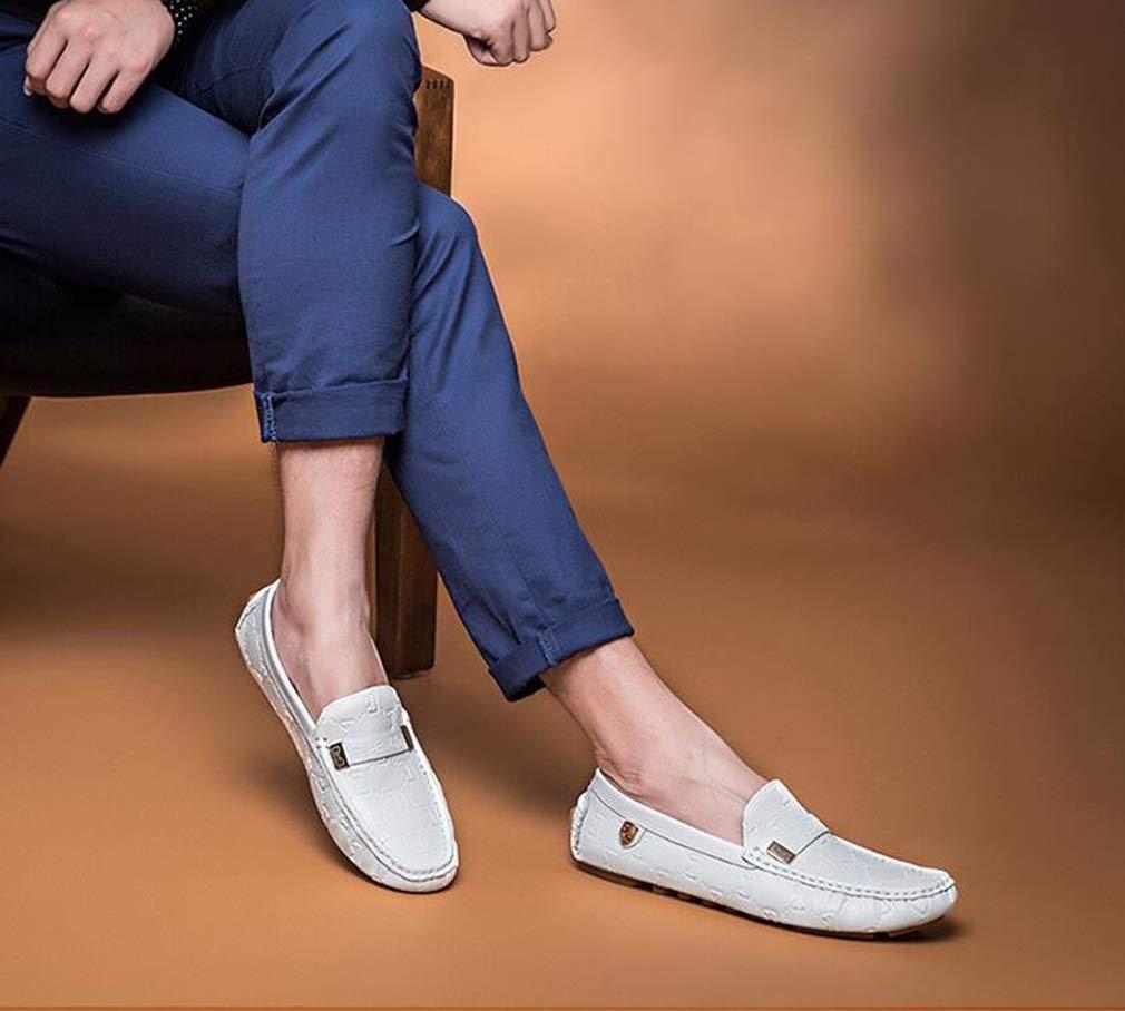 Hy Herren Freizeitschuhe Frühling Frühling Frühling Neuer Komfort Atmungsaktive Slip-Ons Laufsohlen Formelle Business-Schuhe Müßiggänger und Slip-Ons (Farbe   Weiß Größe   43) 1be911