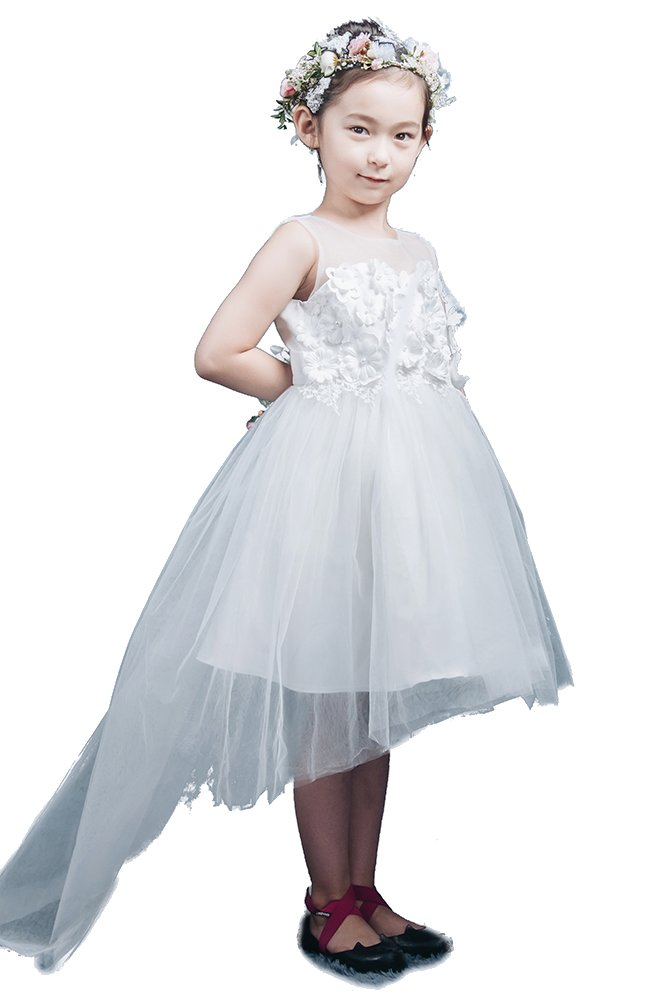 Saint Toi Lovely Flower Girl Princess Cute Mini Organza Dress With Bow(s) TLSWS-0012 by Saint Toi