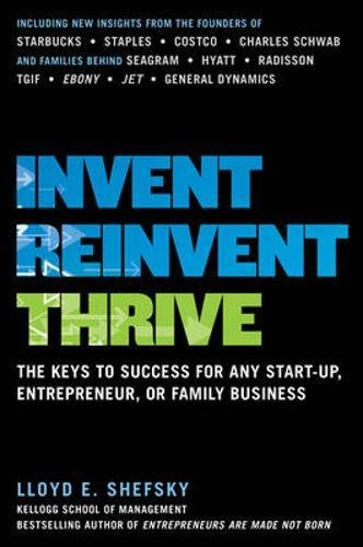 Invent, Reinvent, Thrive: The Keys to Success for Any Start-Up, Entrepreneur, or Family - Or Center Lloyd