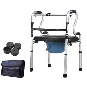 ATLT Silla de baño multifunción, silla de inodoro móvil ...
