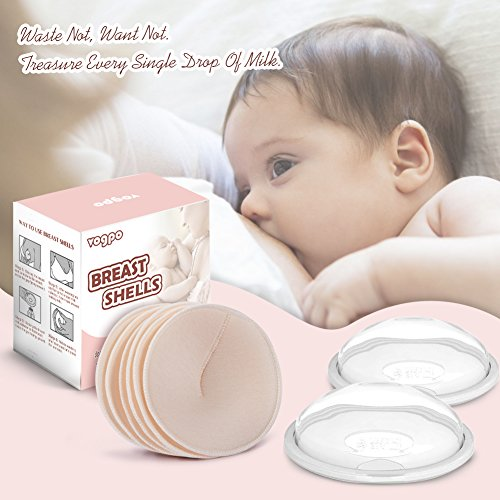 Breast Shells & Milk Saver for Collect Breast Milk and Protect Sore Nipples, Nursing Pads Washable Nursing Cups and Breastfeeding Pad are Super Soft, Reusable and Hypoallergenic by vogpo (Image #6)