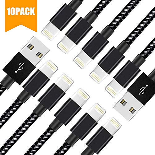 Lightning Cable, MFi Certified iPhone Charger Cable Cord Compatible with Phone XR Xs MAX X 8 8 Plus 7 7 Plus 6s 6s Plus 6 6 Plus