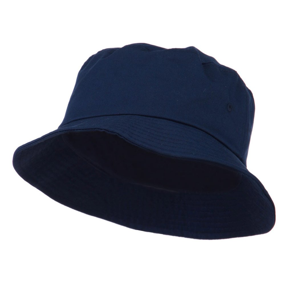 d3fa8124565 Big Size Cotton Blend Twill Bucket Hat - Navy (For Big Head) at Amazon  Men s Clothing store