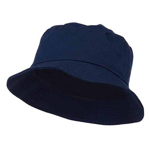 215273f0a0b Big Size Cotton Blend Twill Bucket Hat - Navy (For Big Head) at ...