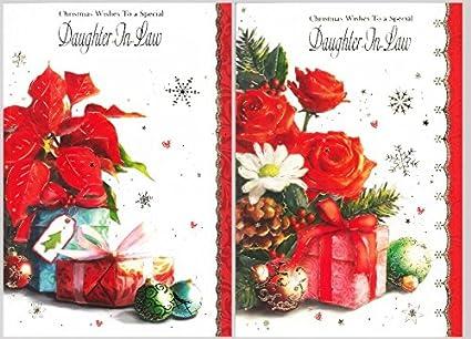 Tarjeta de felicitación de Navidad para hija en ley calidad ...