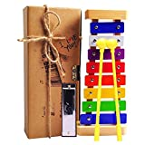 Toys : Xylophone for Kids: Best Holiday/Birthday DIY Gift Idea for your Mini Musicians, Musical Toy with Child Safe Mallets, Perfectly Tuned Instrument for Toddlers, Musical Cards and Harmonica Included
